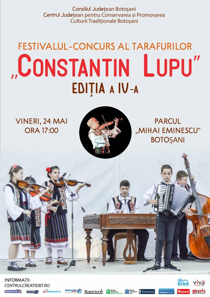 """Regulamentul Festivalului-Concurs al Tarafurilor ,,Constantin Lupu"""", Ediţia a IV-a, 24 mai 2019"""