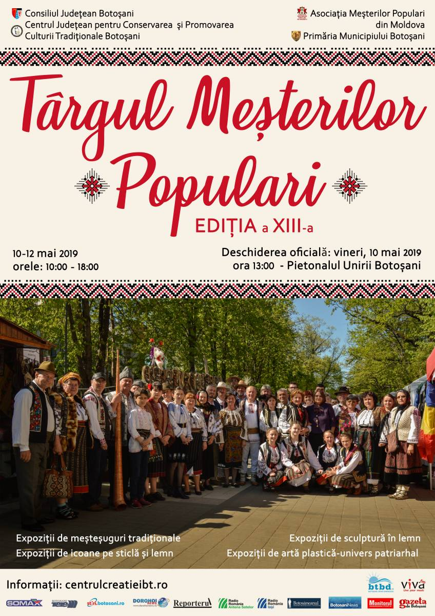 Regulamentul Târgului Meșterilor Populari, Ediția a XIII-a, 10-12 mai 2019