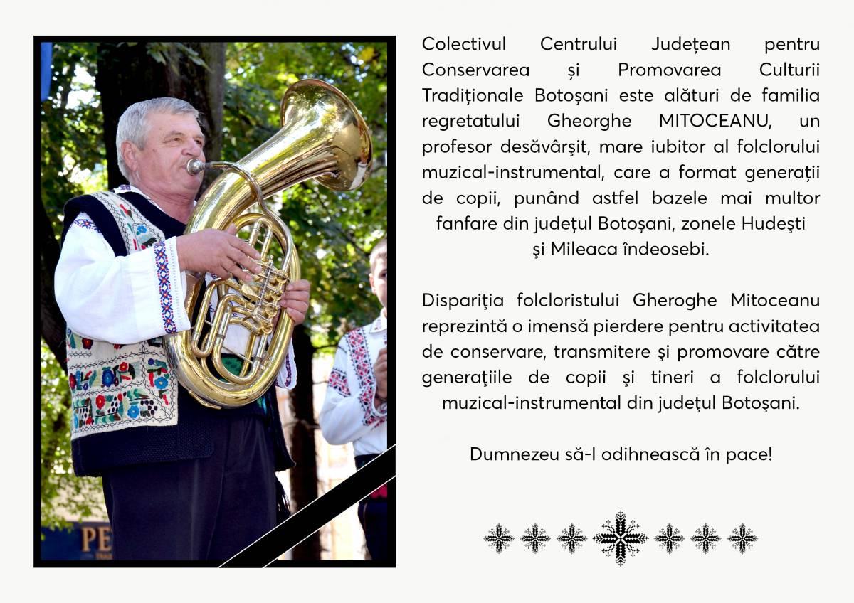 În memoria profesorului Gheorghe Mitoceanu