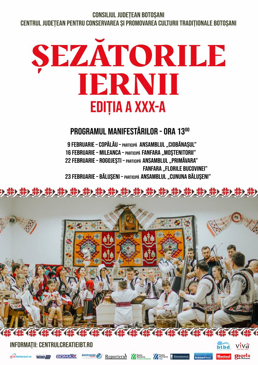 Comunicat de presă – Şezătorile iernii – Ediţia a XXX-a, 9 – 23 Februarie 2020