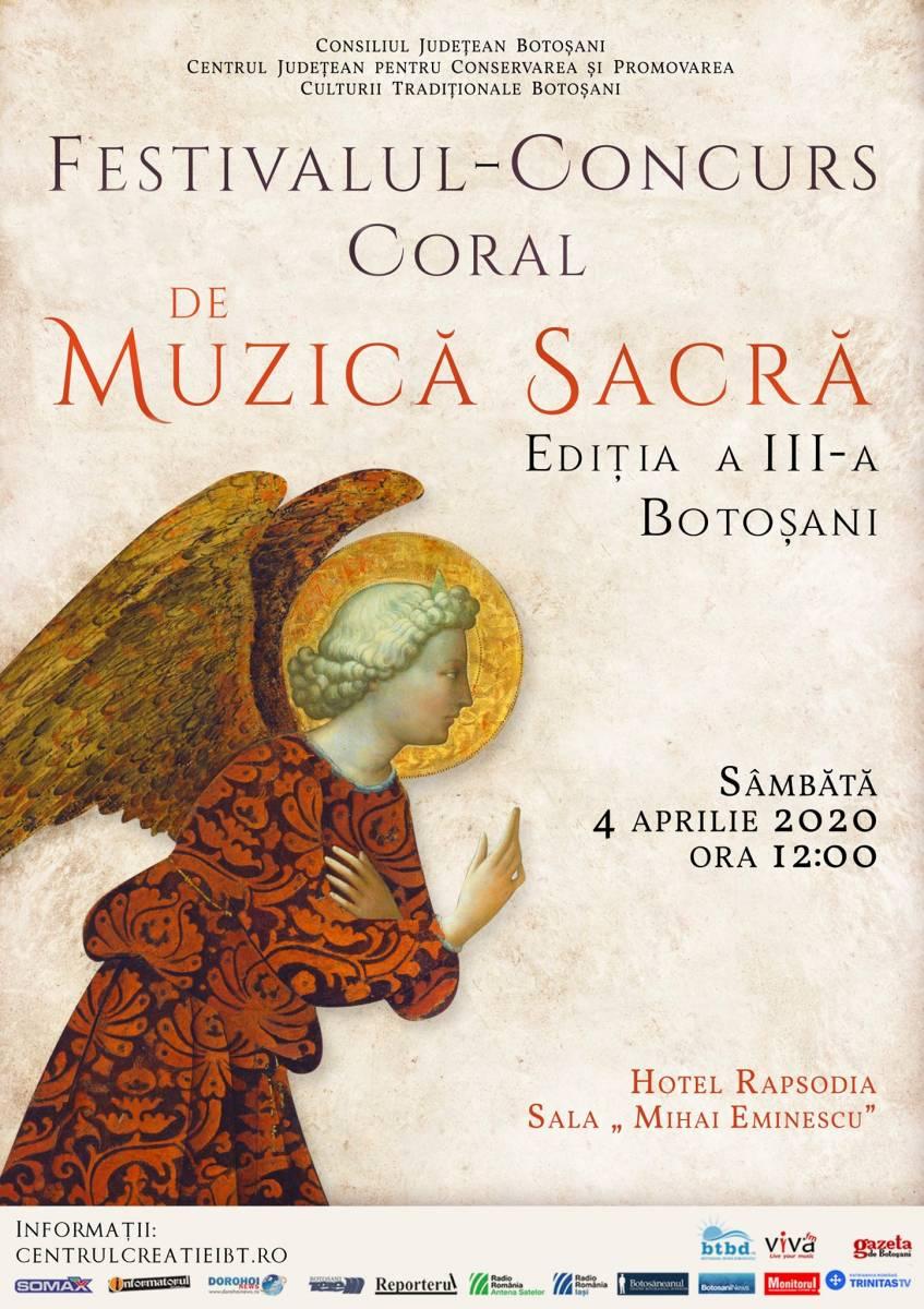 Regulamentul Festivalului – Concurs Coral de Muzică Sacră, Ediția a III-a, 4 aprilie 2020