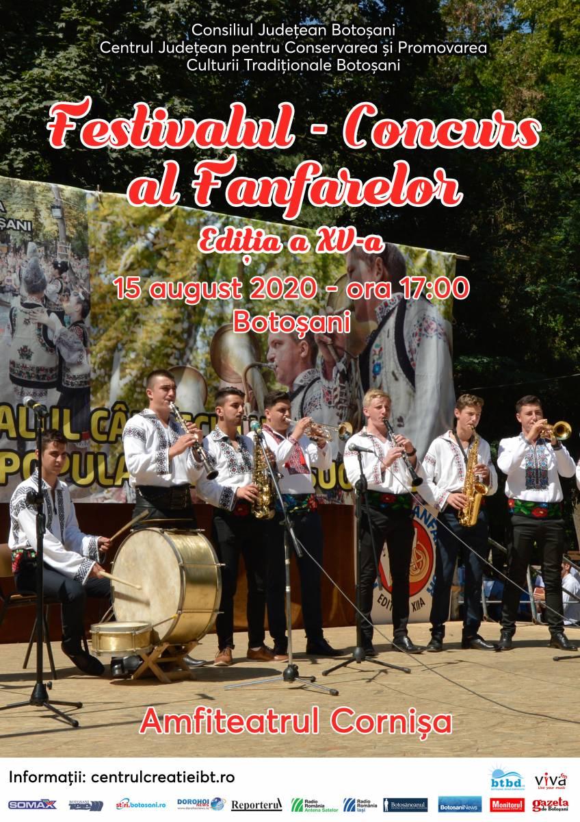 Regulamentul Festivalului-Concurs al Fanfarelor, Ediția a XV-a, 15 august 2020